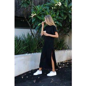 One S left! ❣️Black Cotton T-Shirt Maxi Dress